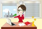 Mulher de negócios — Vetorial Stock