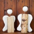 Angels handmade of wood — Stock Photo