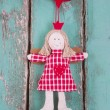 Sewn angel doll hanging — Stock Photo #33585795