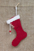 Handmade Santa boot — Stock Photo
