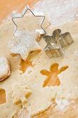 Preparing gingerbread cookies — Stock Photo