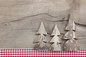 Decoration with three pine tree — Stock Photo