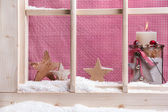 Indoor window sill Christmas decoration — Foto Stock