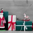 Christmas presents and gift boxes — Stock Photo