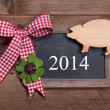 Happy new year 2014 - greeting card — Stock Photo