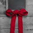 Menu board with a red ribbon for message — Stock Photo