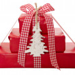 Stock Photo: Wrapped Christmas presents