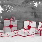 Новогодний фон с подарками — Стоковое фото