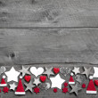 Christmas decoration border — Stok fotoğraf