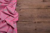 Checkered fabric as border for menue card — Stock Photo