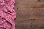 Checkered fabric as border for menue card — Stock Photo