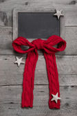 Menu board for christmas with red ribbon — Stock fotografie