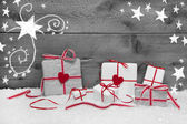 Christmas background with presents — Stock Photo