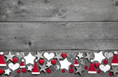 Christmas decoration border — Stock fotografie