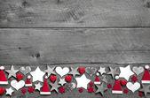 圣诞节装饰边框 — 图库照片