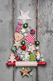 Christmas tree - shabby chic style — Stock Photo