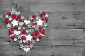 Christmas decoration shaped heart — Stock Photo