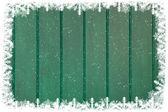 Green wooden christmas wall — Stock Photo