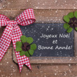 Chalk board with Merry Christmas message — Stockfoto