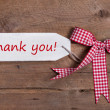 Thank you message with bow — Stock Photo