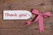 Thank you message with bow — Stok fotoğraf