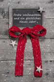 Křída deska s veselé vánoce zprávy — Stock fotografie