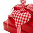 Presents wrapped in red paper — Stock Photo