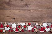 Decoración de corazón y estrellas de navidad — Foto de Stock