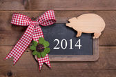 Happy new year 2014 - greeting card — 图库照片