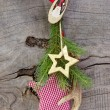 Christmas decoration with antler and stars — Stock Photo
