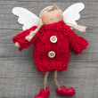 Red christmas or guardian angel — Stock Photo