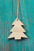 Wooden christmas tree — Stock Photo