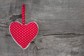 Red dotted heart decoration — Stock Photo