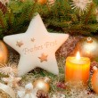 Golden christmas decoration — Foto Stock