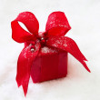 Gift or present with a ribbon for christmas — Stockfoto