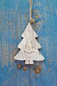 Handmade christmas tree decoration — Stock Photo