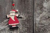 Red Santa Claus decoration — Stock Photo