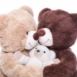 Happy teddy bears family — Stock Photo