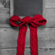 Menu board for message with red bow — Stock Photo #33816343