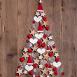 New design for a christmas tree — Stock Photo
