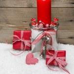 Weihnachtskarte mit Dekoration — Stockfoto