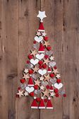 New design for a christmas tree — Stok fotoğraf