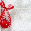 Christmas background with red ball — Stock Photo