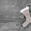 Santa christmas boot  — Stock Photo