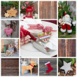 Classic christmas decoration collage — Stock Photo