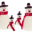 Handmade snowman from felt — Stock Photo #33850443