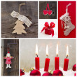 Rustic country decoration for christmas — Stok fotoğraf