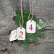 Christmas decoration with 24 — Stock Photo