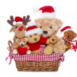Teddy bears for christmas — Stock Photo
