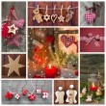 Classic christmas decoration — Stock Photo